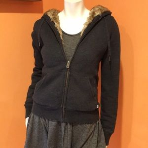 TNA fur lined size M sweatshirt